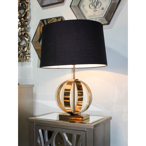 Luna Gold Table Lamp With Black Shade