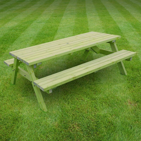 Rutland Oakham 8ft Light Green Picnic Bench