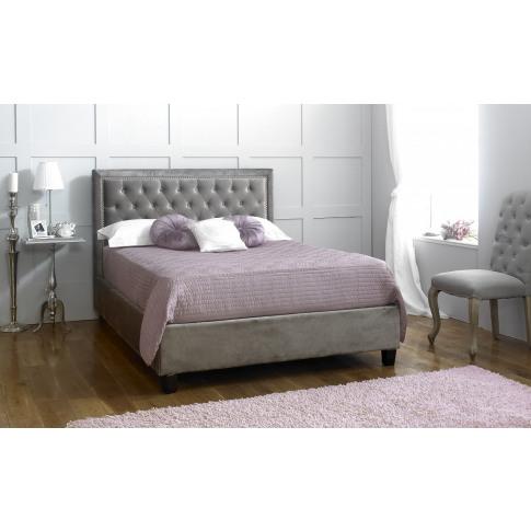 Limelight Rhea 5ft King Size Silver Velvet Bed