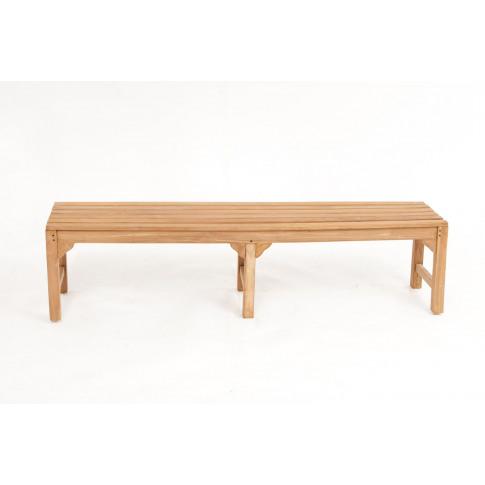 Hi-Teak Backless 180cm Teak Waiting Garden Bench