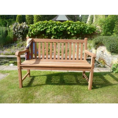 Hi-Teak Classic Lemington 3 Seat Teak Garden Bench