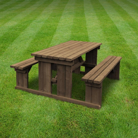Rutland Tinwell 7ft Rustic Brown Picnic Bench