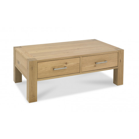 Bentley Designs Turin Light Oak Coffee Table With Dr...