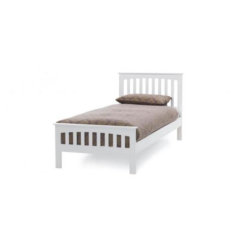 Serene Amelia Hevea 3ft Single Opal White Bed Frame