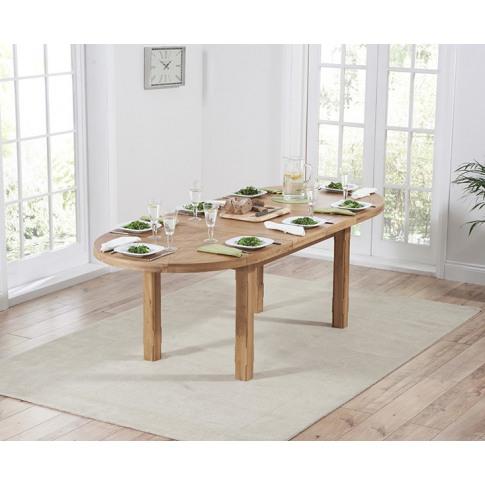 Cheyenne Oval Oak 165cm Extending Dining Table