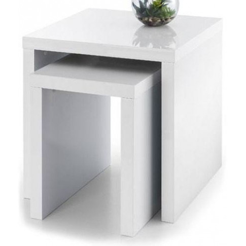 Julian Bowen Metro White High Gloss Nest Of Tables