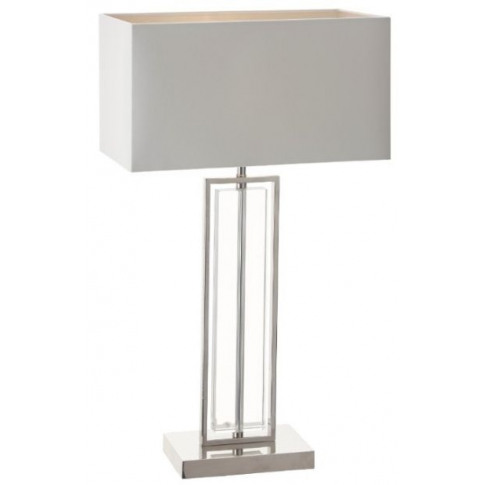 Rv Astley Beck Nickel With Clear Crystal Table Lamp