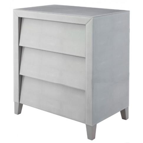 Rv Astley Colby Soft Grey Shagreen 3 Drawer Chest