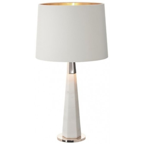 Rv Astley Vox White Marble And Antique Brass Table Lamp
