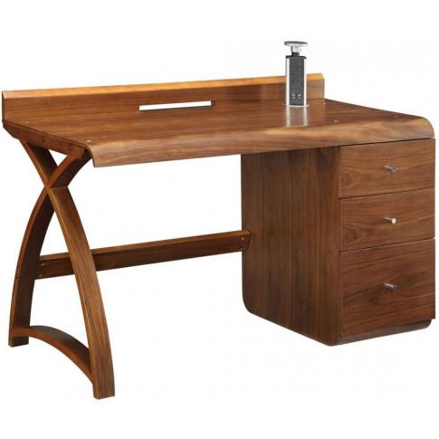 Jual 3 Drawer Walnut Pedestal Desk Pc601