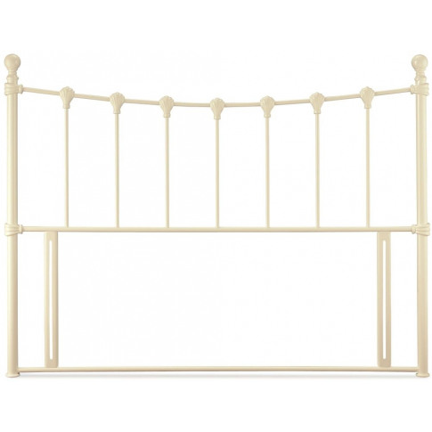 Serene Marseilles 4ft Small Double Ivory Gloss Metal...