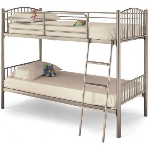 Serene Oslo 3ft Single Twin Silver Metal Bunk Bed