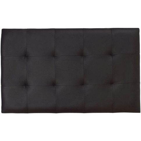 Serene Romana 3ft Single Black Faux Leather Headboard