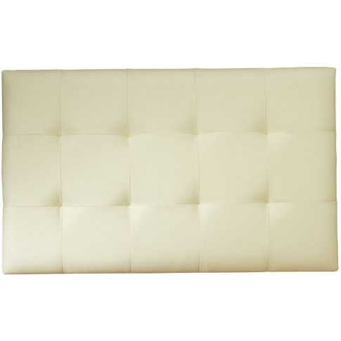 Serene Romana 3ft Single Cream Faux Leather Headboard