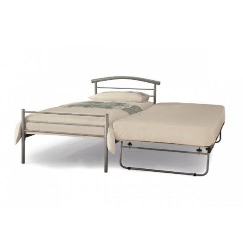 Serene Brennington 3ft Single Silver Metal Guest Bed