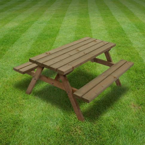 Rutland Oakham 5ft Rustic Brown Junior Picnic Bench