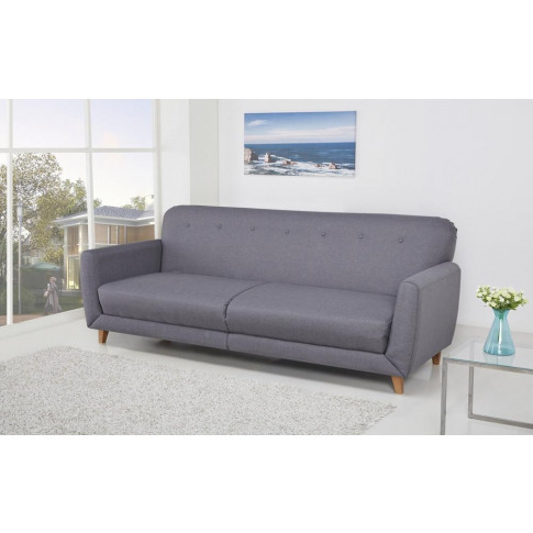 Sydney 3 Seater Versatile Willow Grey Fabric Sofa Bed