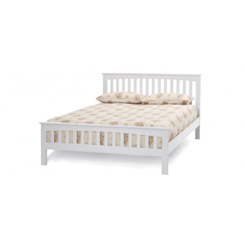Serene Amelia Hevea 4ft6 Double Opal White Bed Frame