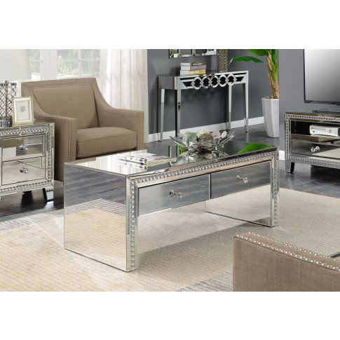 Loughton Silver Mirrored Coffee Table