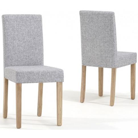 Maiya Grey Weave Fabric Dining Chair
