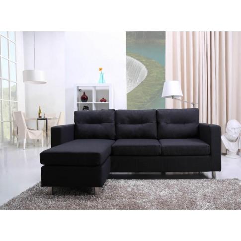 Osaka Modern Charcoal Grey Fabric Chaise Sofa