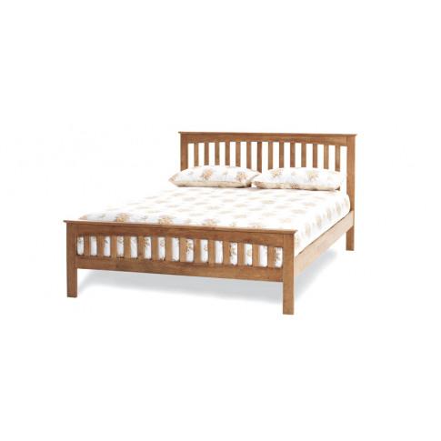 Serene Amelia Hevea 4ft6 Double Honey Oak Bed Frame