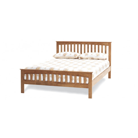 Serene Amelia Hevea 6ft Super Kingsize Honey Oak Bed...