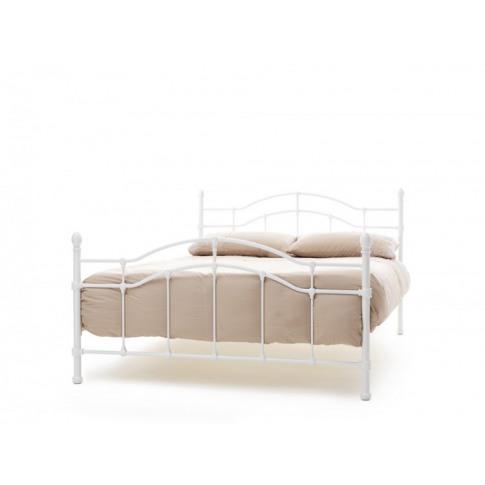 Serene Paris 4ft6 Double White Gloss Metal Bed Frame