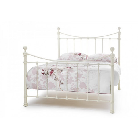 Serene Ethan 4ft6 Double Ivory Metal Bed