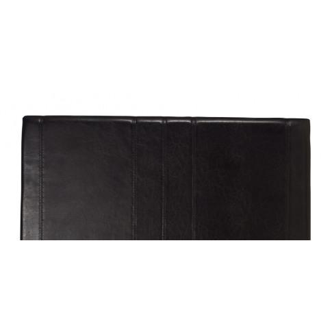 Serene Carmela 4ft Small Double Black Faux Leather H...