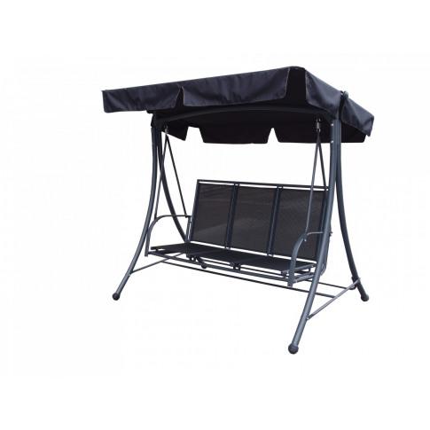 Royalcraft Sorrento Black 3 Seat Swing Hammock with ...