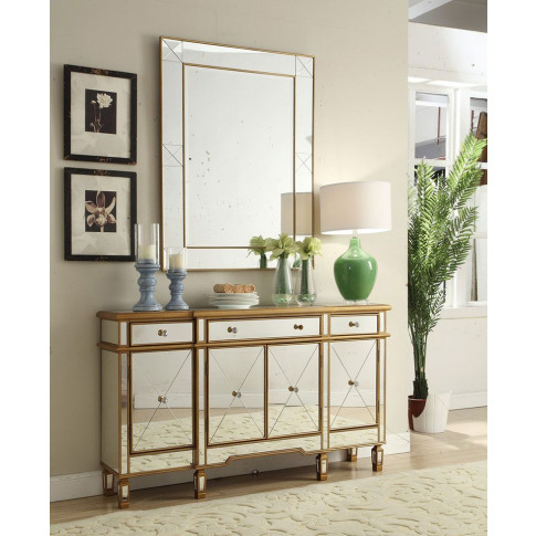 Imperial Mirrored Sideboard And Mirror Set