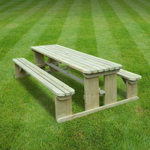 Rutland Tinwell 8ft Light Green Rounded Picnic Bench