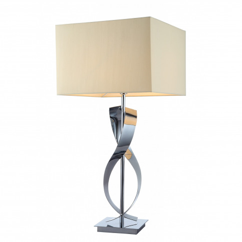 Rv Astley Bali Twisted Nickel Table Lamp