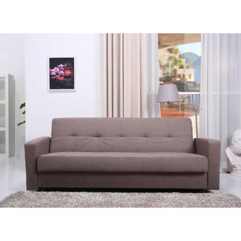 Jensen Autumn Brown Fabric Sofa Bed With Storage