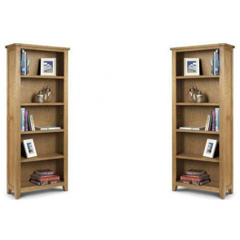 Julian Bowen Astoria Oak Large Bookcase