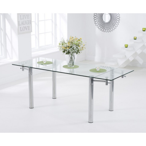 Grenada 140 - 200cm Ext. Clear Glass Dining Table