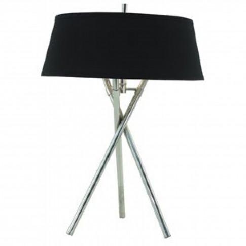 Rv Astley Arlo Tripod Nickel Table Lamp