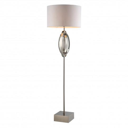 Rv Astley Seraphina Nickel Oval Rings Floor Lamp