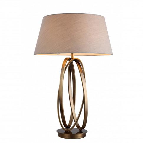 Rv Astley Brisa Antique Brass Table Lamp