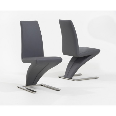 Hereford Grey Leather Dining Chair