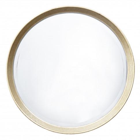 Rv Astley Lana Antique Brass Round Wall Mirror