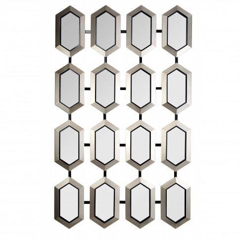 Rv Astley Champagne Silver Leaf Wall Mirror