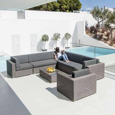 Alexander Rose Monte Carlo 7pc Corner Sofa Set with ...