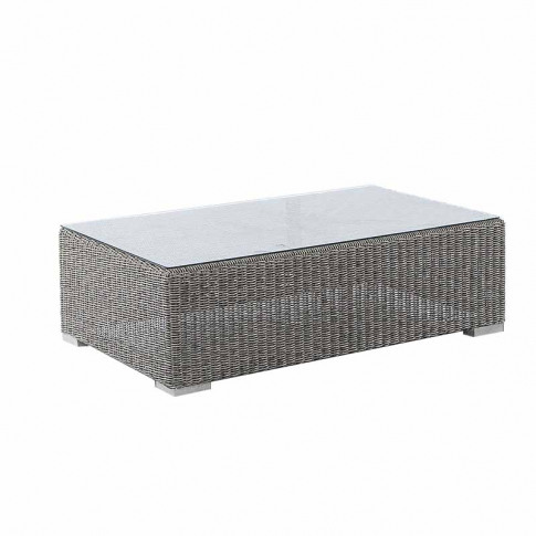 Alexander Rose Monte Carlo Coffee Table With Glass