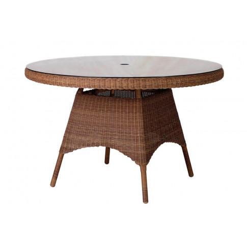 Alexander Rose San Marino 120cm Dining Table W.Glass