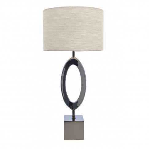 Rv Astley Chloe Smoked Nickel Table Lamp