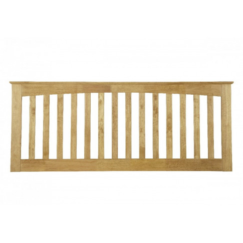 Serene Amelia 4ft6 Double Honey Oak Wooden Headboard