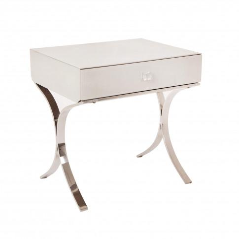 Rv Astley Sovana Iced Ivory Side Table