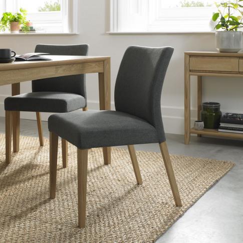 Bentley Designs Bergen Oak Uph Dining Chair - Cold S...